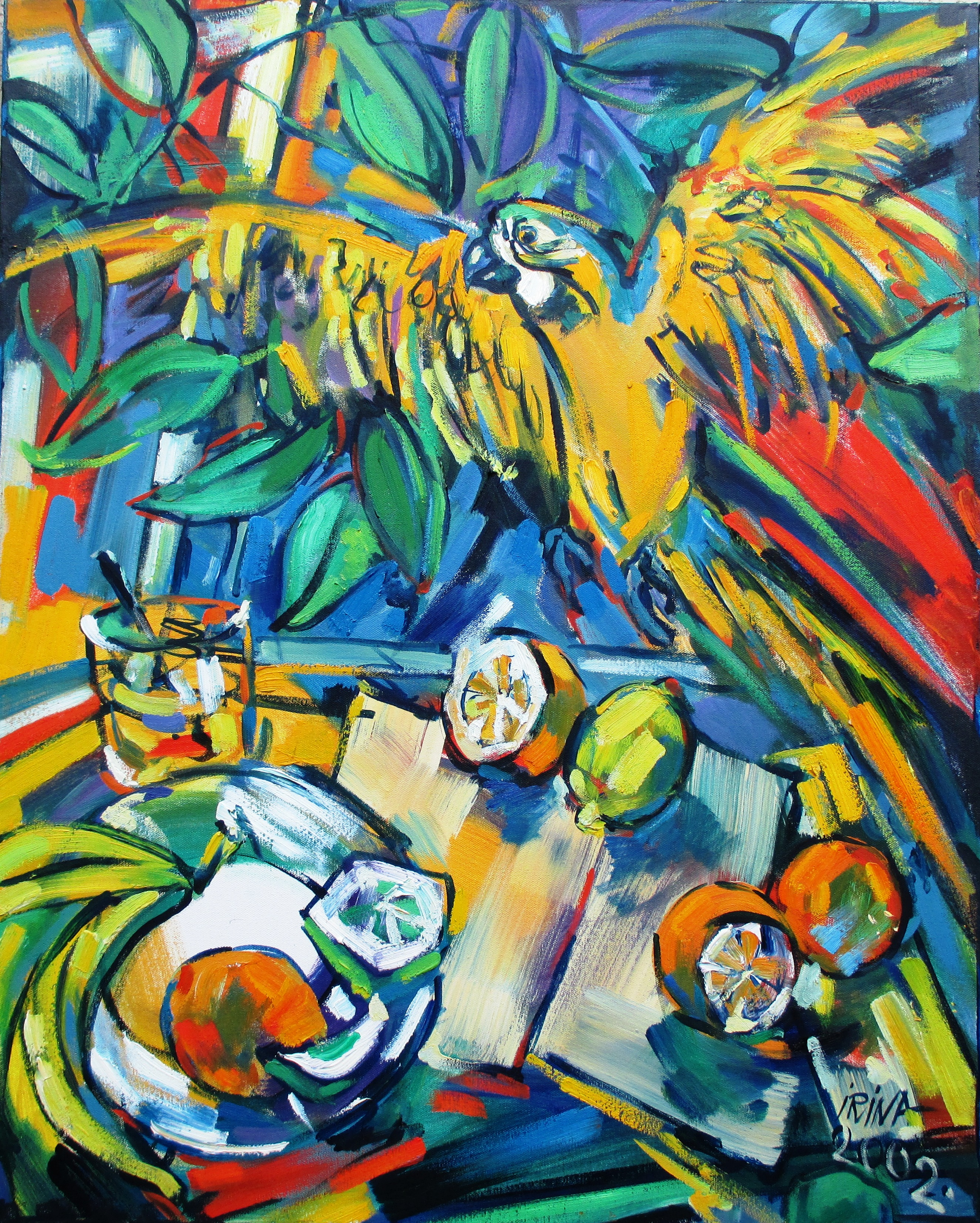 Still Life with Yellow Parrot