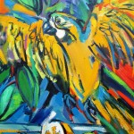 Still Life with Yellow Parrot CU1